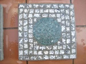 """Baldosa mosaico """"Luna Llena"""" en Opus Tessellatum """"artístico."""
