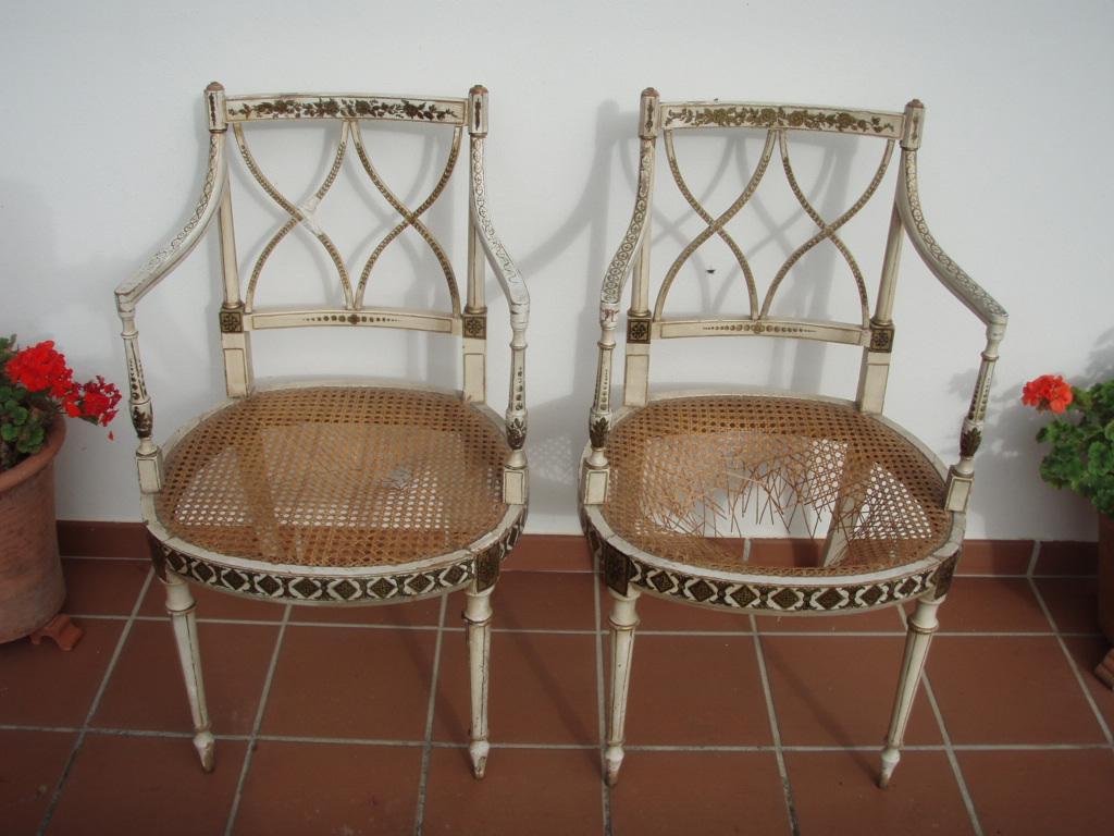 Tejer sillas de rejilla 1 artesania la pasera - Reparacion de sillas de rejilla ...