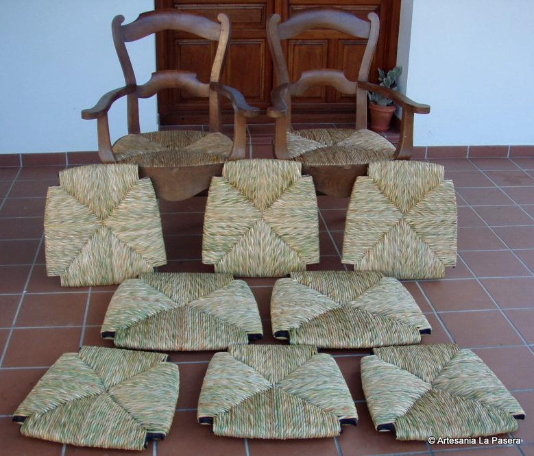 Restauracion de sillas 4 enea artesania la pasera - Restauracion de sillas ...
