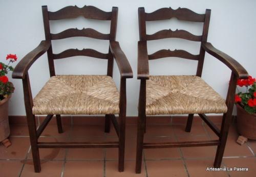 Restauracion de sillas con asiento de enea 3 artesania - Restauracion de sillas ...