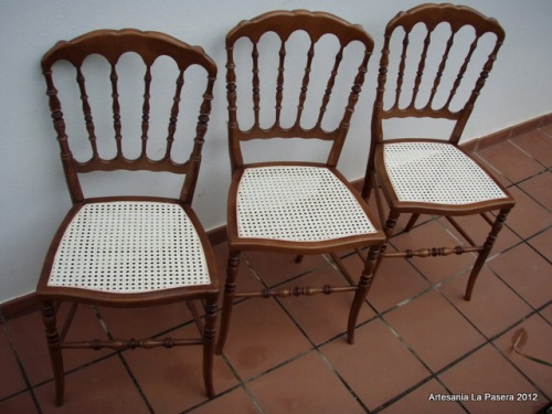 Restauracion de sillas con tela de rejilla 2 artesania - Restauracion de sillas ...