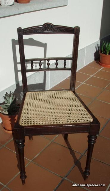 Restauracion de sillas de rattan artesania la pasera for Sillas ratan